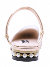 Casual PVC Pointed Beading Comfortable Sandals