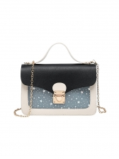 Star Decor Colorblock Crossbody Bag