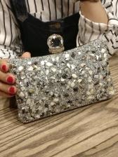Elegant Diamond-Inlaid Clutch Bag For Women
