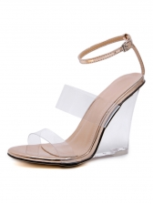 Euro Style PVC Clear Wedge Heels For Women