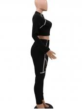 Mock Neck Colorblock Gauze Panel Womens Gym Wear
