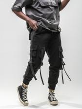 Causal Multi Pocket Drawstring Long Pants