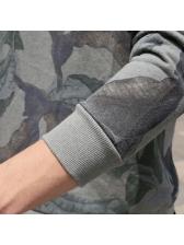 Causal Crew Neck Print Sweatshirt