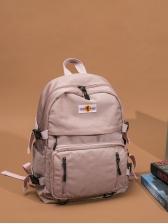 Solid Color Large Capacity Waterproof Backpack
