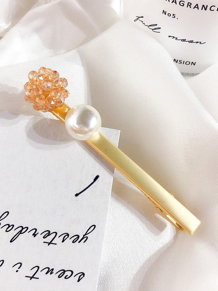 Korean Pearl Crystal Hair Clip