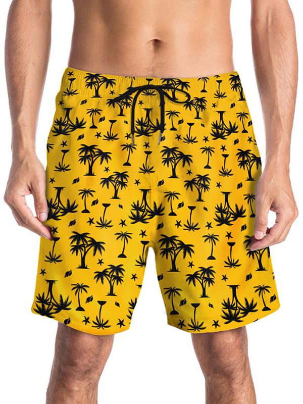 Coconut Grove Printed Drawstring Short Pants
