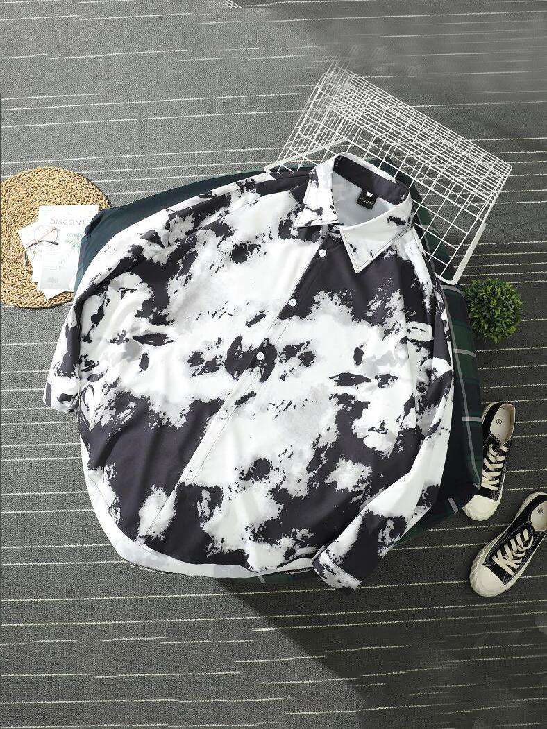 Summer Printed Loose Fitting Short Sleeves Shirt