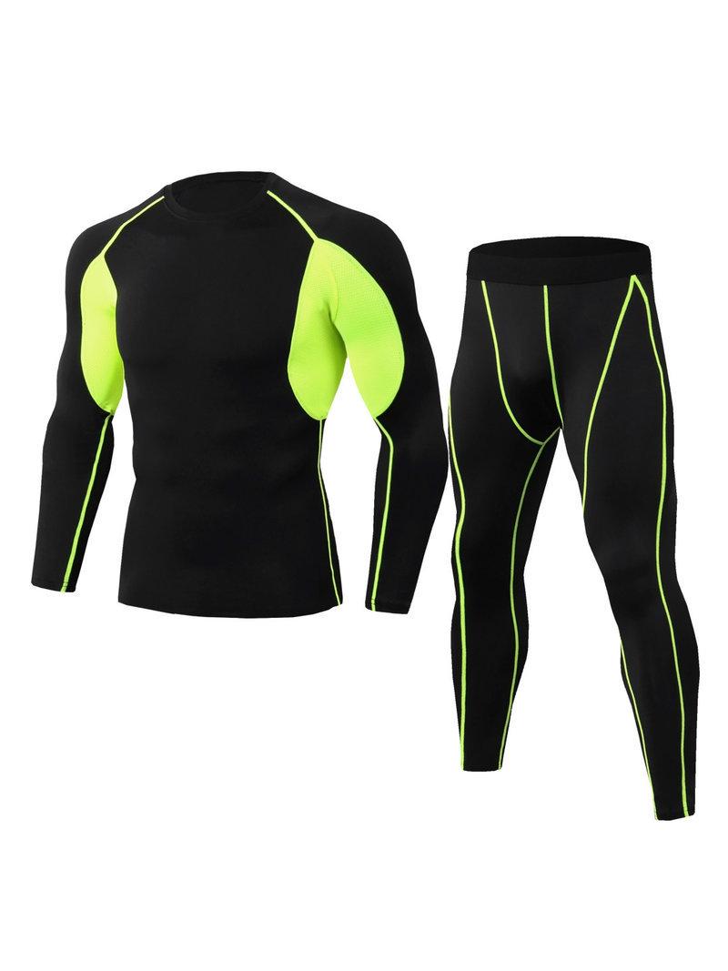 Tight Fast Dry Men Sport Wear Sets