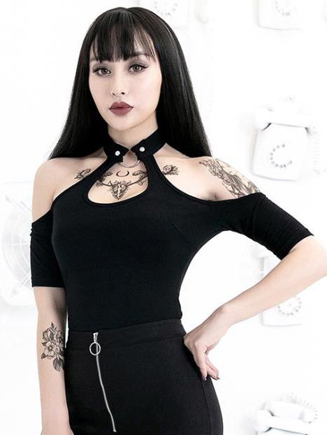 Sexy Halter Off Shoulder Ladies t Shirt