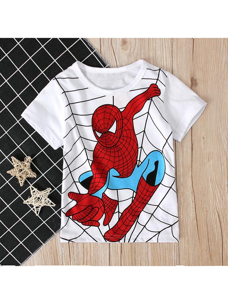 Spider-men Printed Short Sleeve T-shirt For Boys