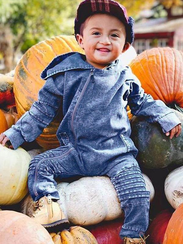 Casual Long Sleeves Baby Hoodie Rompers