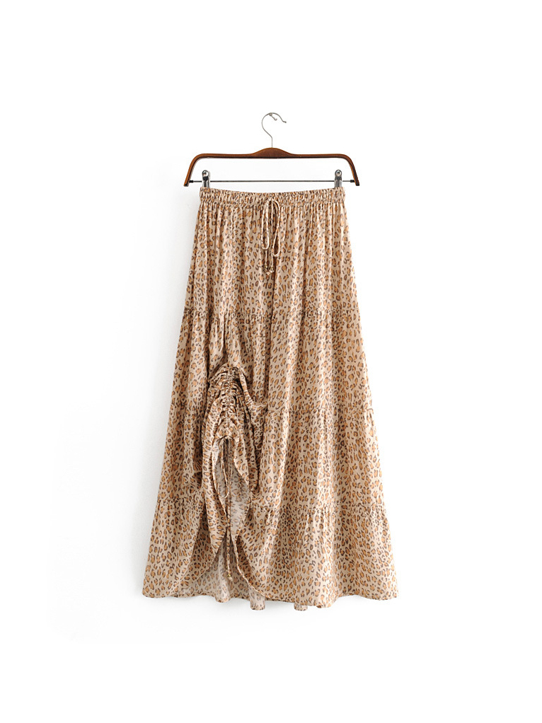 Rural Style Pulling Ropes Printed Skirt