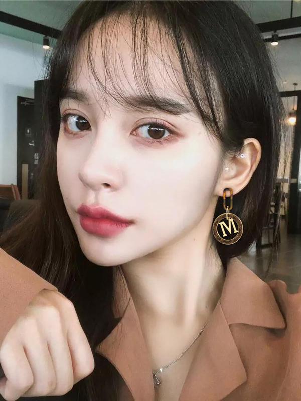 Geometric Shape Plush Round Earrings