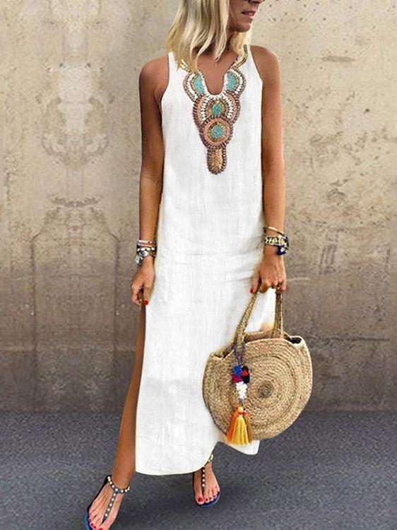 Hot Sale V Collar Sleeves Ladies Dress