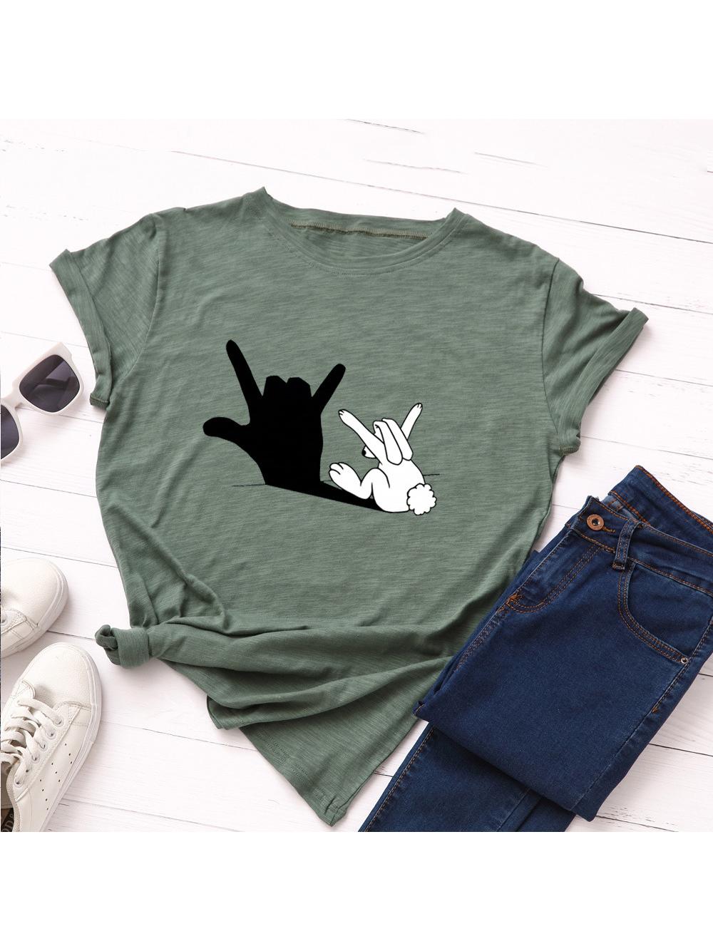 Casual Cute Printed Short Sleeve T-shirt