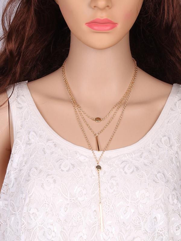 Easy Matching Minimalism Multi-Layer Necklace