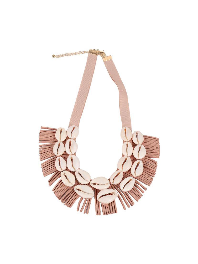 Creative Tassels Conch Patchwork Women Necklace