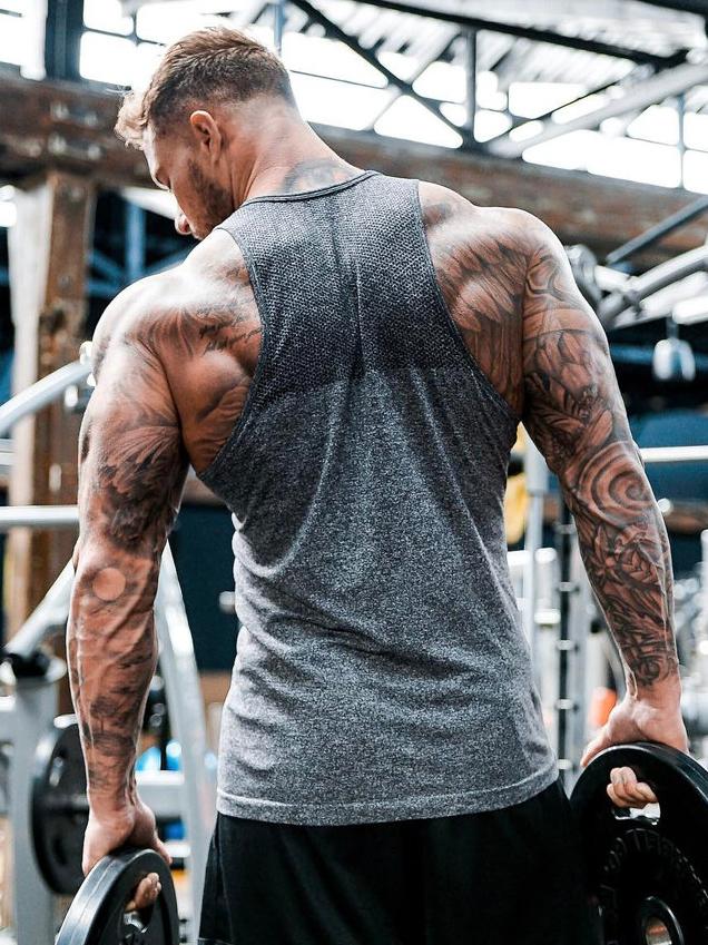Solid Color Sports Vest For Men