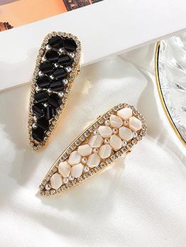 Honey Girl Pearls Crystal Rhinestone Hair Clip
