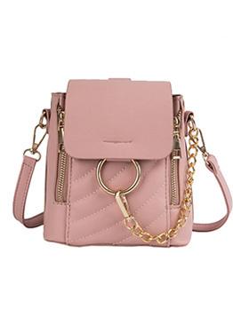 New Arrival Chain Decor Zip Bucket Bag For Women