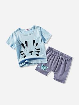Casual Animal Printed Shirt Baby Sets