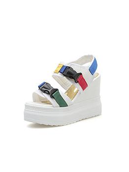 Korean Style Buckle Wedge Sandals