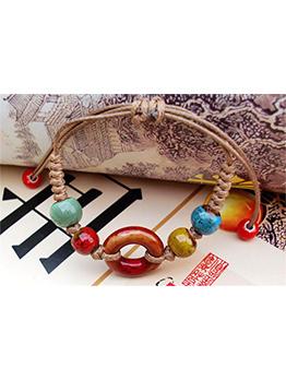 Ceramic Beaded Clock Design Bracelet