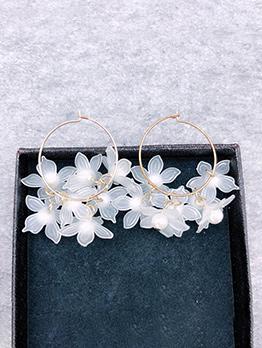 Elegant Petal Loop Earrings For Women