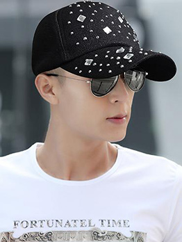 Fashion Rhinestone Outdoors Matching Cap