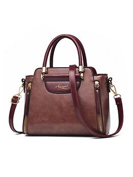 OL Style Contrast Color Large Capacity Women Handbag