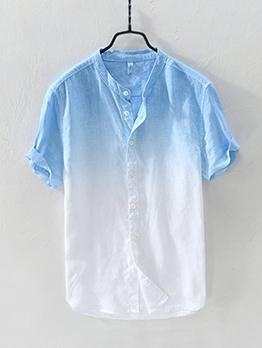 Hot Sale Gradient Short Sleeves Shirt For Men