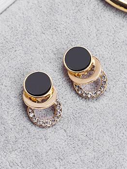 Fashion Contrast Color Rhinestone Ear Nails