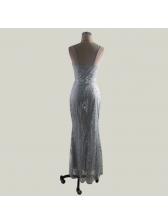 Lace V Neck Floor Length Wholesale Evening Dresses