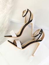 Euro Style Night Club Contrast Color Stiletto Sandals