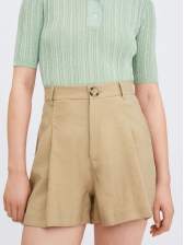 Hot Sale High Waisted Khaki Short Pants