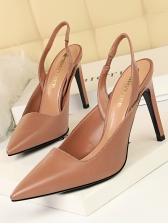 Office Ladies Solid Slip On Women Stilettos