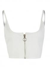 Euro Style U Neck Zipper Up Ribbed Women Set