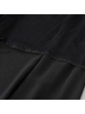 Chiffon Black Mesh-overlay Pants Skirt