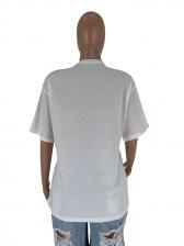 Letter Loose Short Sleeve T-Shirt