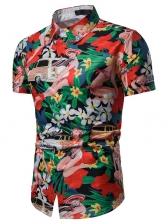 Summer Hawaii Floral Print Shirt For Men