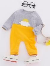 Casual Spring Color Block Baby Sets
