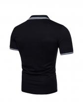 Contrast Color Polo Shirt For Men