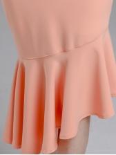 Sexy Irregular Fishtail Blush Strap Dresses