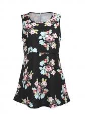 Summer Flower Sleeveless Maternity Dress