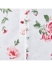 Casual V Neck Print Tassel Decor Fitted Dress