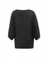 Fashion V Neck Bat Sleeve Ladies Blouse