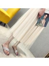 PVC Rhinestone Crossed Strap Ladies Slippers
