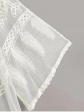 Summer Lace White V Neck Cardigan