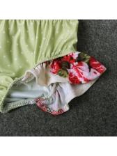 Flower Bow Baby Girls Binding Halter Sets