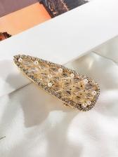 Pearls Crystal Rhinestone Hair Clip